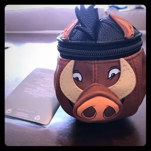 Lion King Pumba zippered vanity bag/coin purse